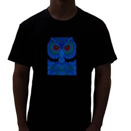 Sound Activated EDM Owl LED Shir