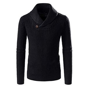 QBQCBB Leisure Men Winter Sweater Long Sleeve Solid Knitted Pullover Tops Blouse