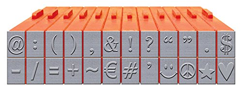 Mason Row XL-58035 24-Piece Symbols and Punctuation Clickable Stamp Set