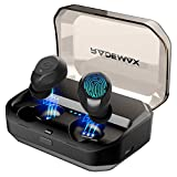 [2019 Upgrade] True Wireless Earbuds, Bluetooth 5.0 Earbuds IPX7 Waterproof 90H Cycle Play Time Headphones Auto Pairing in-Ear Bluetooth Earphones Wireless Headset with 3350mAh Charging Case