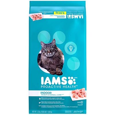 IAMS PROACTIVE HEALTH Indoor Weight and Hairball Care Dry Cat...