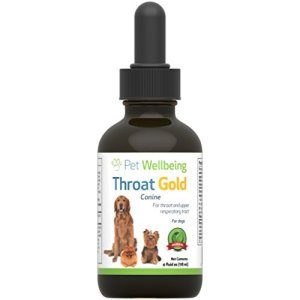 Pet Wellbeing Throat Gold - Cough & Throat Soother 14