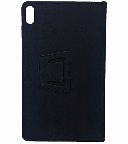 KANICT Tablet Leather Front & Back Flip Flap Case Cover for Lenovo Tab4 8 Plus TB-8704X (Black) 3
