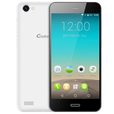 Gretel A7 3G Smartphone 4.7 inch Corning Gorilla Glass HD Screen Android 6.0 MTK6580 Quad Core 1.3GHz 1GB RAM 16GB ROM Proximity Sensor Dual Cameras - WHITE