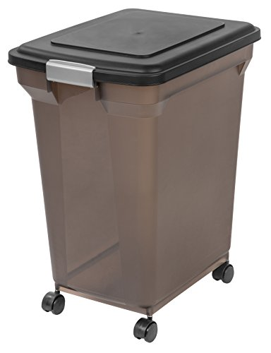 IRIS Premium Airtight Pet Food Storage Container, 55-Pounds,  Smoke