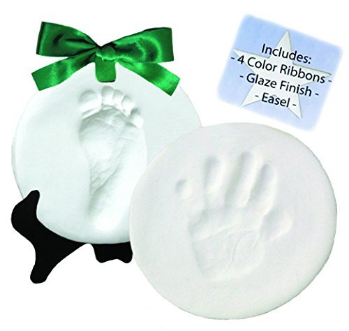 DELUXE Clay Hand Print & Footprint Keepsake Kit - Dries Stone Hard - No