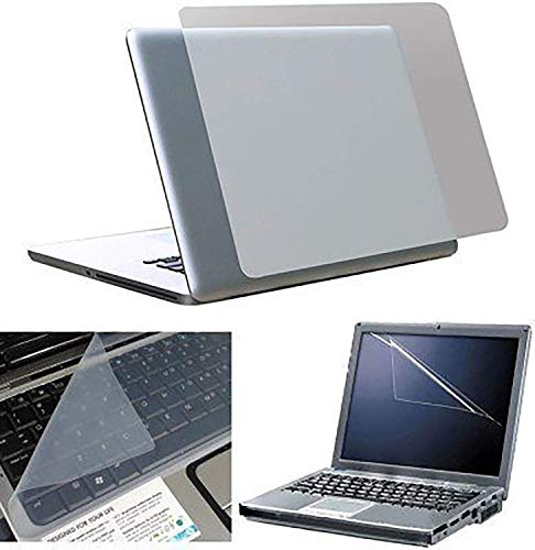 Fedus Transparent Laptop Skin,Keyboard Skin, Screen Guard,Laptop Accessories Combo for 15.6 inch Laptop 145