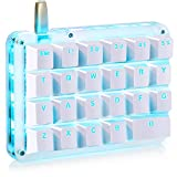 Koolertron One Handed Macro Mechanical Keyboard, Portable Mini One-Handed Mechanical Gaming Keypad 23 Fully Programmable Keys (Red Switches (Blue Backlit))