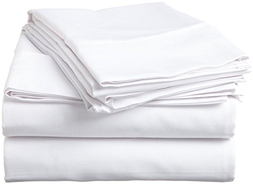 Rajlinen Ultra Soft Cozy 100% Percale Cotton 4 PCs Bed Sheet Set - 400 Thread Count 15 inch Deep Pocket - Extremely Smooth Stronger Durable Quality Bedding (White Solid,King)