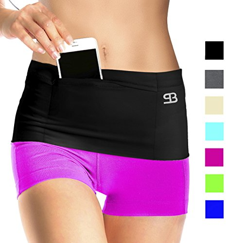 Stashbandz Unisex Money Travel Belt, Running Belt, Fanny and Waist Pack, 4...