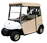 """Tan Golf Cart Cover – 3-Sided """"Over-The-Top"""" Cart Cover for..."""