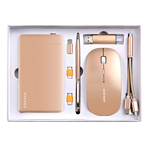 AMENER Combo Personalized Gifts Business Gift Set, Perfect for Birthday Wedding Christmas Anniversary Corporate Gifts, Gift Ideas for Men & Women, Customizable(Rose Gold) (Gold)