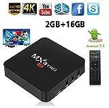 ZAMPEQ MXQ Pro 4K Android TV Box 2GB RAM/16GB ROM 64 Bit Quad Core Wi-Fi UHD Smart TV Box - Black