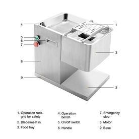 CO-Z-110V-Commercial-Meat-Cutting-Machine-Meat-Slicer-1100LB-Per-Hour-550W-Stainless-Steel-Fresh-Meat-Cutter-Commercial-Grade-Restaurant-Meat-Processing-Machine-Electric-Slicer-3mm-Cutting-Blade