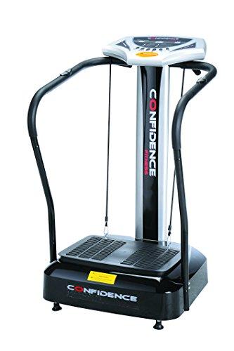 Confidence Fitness Slim Full Body Vibration Platform Fitness Machine, Black