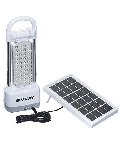 SIMKAY Super-Bright Lantern Dimmable Rechargeable Solar Powered with Hanging Hook, Portable For Outdoor activity. Or Indoor Emergency Situations.