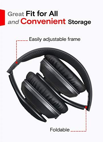 Symphonized Blast Wireless Bluetooth Headphones with Mic, Over Ear Headphones for iPhone, Samsung and More, 22 Playtime Hours for Travel/Work, Deep Bass Headphones with Noise Isolation (Black) 16