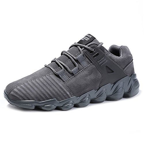 KuBua Winter Mens Running Shoes Indoor and Outdoor Sport Shoes Athietic Fitness Fashion Sneaker Casual for Men 8 D(M) US/EU 41 C Grey