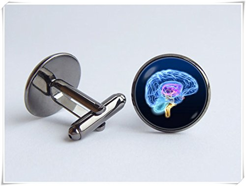 Brain model cufflinks Anatomical cufflinks Science Biology cufflinks