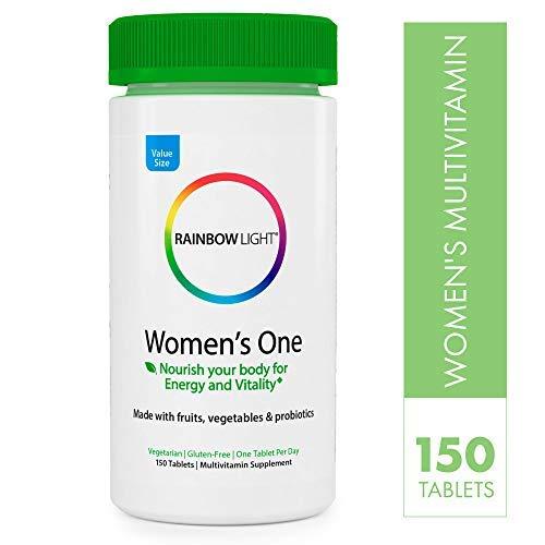 Rainbow Light Women's One Non-GMO Project Verified Multivitamin Plus Superfoods & Probiotics - 150 Tablets