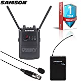 Samson Concert 88 Camera UHF Wireless Lavalier Microphone System for DSLR Cameras and HD Camcorders with 1-Year Extended Warranty