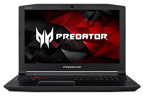 "Acer Predator Helios 300 Gaming Laptop, 15.6"" Full HD IPS, Intel i7-7700HQ CPU, 16GB DDR4 RAM, 256GB SSD, GeForce GTX 1060-6GB, VR Ready, Red Backlit KB, Metal Chassis, Windows 10 64-bit, G3-571-77QK"