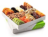 Holiday Nuts and Dried Fruit Gift Basket, Gourmet Mix of Assorted Fresh Nuts & Dried Fruit Tray for Christmas Holiday, Mothers & Fathers Day, Birthday, Sympathy, Corporate Gifts By Nut Cravings