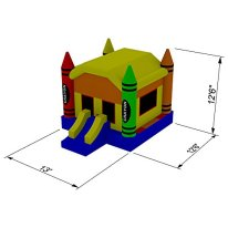 Inflatable-HQ-Commercial-Grade-Crayon-Bounce-House-100-PVC-with-Blower