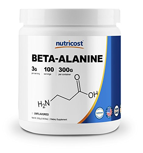Nutricost Beta Alanine Powder 300 Grams (10.6oz) - 3 Grams Per Serving