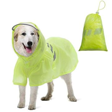 BINGPET-Dog-Raincoat-for-Large-Dogs-Waterproof-Pet-Rain-Jacket-with-Hood-ReflectiveLightweight-Rain-Poncho-Yellow
