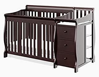 A Storkcraft classic, the Portofino 4-in-1 Convertible Crib and Changer combines unsurpassed quality with style in a versatile package. Offering plenty of storage with its three spacious drawers and three open shelves, this crib and changer converts ...