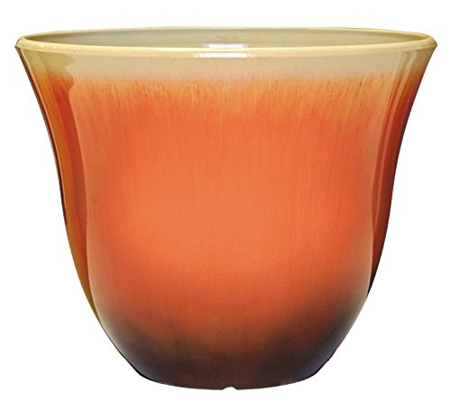 "Honeysuckle Planter, Patio Pot, 15"" Tequila Sunrise"