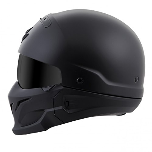 ScorpionExo Covert Unisex-Adult Half-Size-Style Matte Black Helmet (Matte Black, Large)