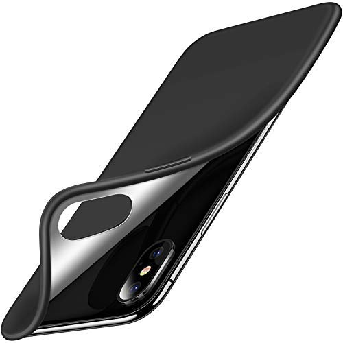 TORRAS Only for iPhone X Case 2017, Slim Fit Thin Soft TPU Anti-Scratch Protective Case Cover with Easy Grip Compatible with iPhone X (2017) - Black