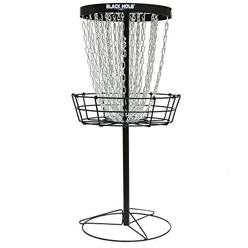 MVP Black Hole Pro HD 30-Chain Portable Disc Golf Basket Target