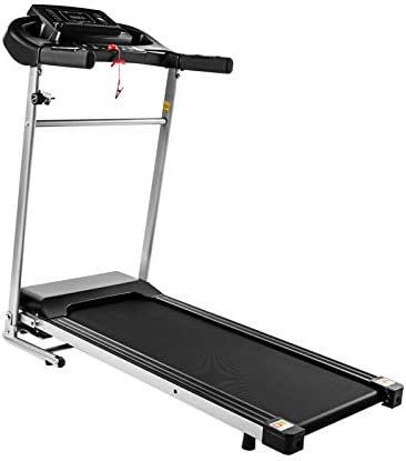 Teblacker Folding Treadmill - 2.25HP Electric Treadmill with LCD Display and Cup Holder - Suitable for Home Office Jogging, Black 1