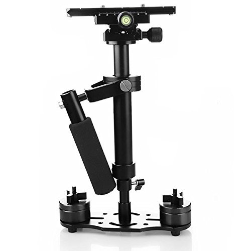FOTOWELT Handheld Camera Stabilizer for Nikon Canon Sony Panasonic DV DSLR-Weight Bearing Capability 0.2-3 kg
