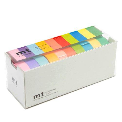 MT Washi Masking Tapes, Set of 10, Bright Colors (MT10P003)