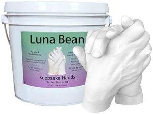 Luna Bean Keepsake Hands Casting Kit | DIY Plaster Statue Molding Kit | Hand Holding Craft for Couples, Adult & Child, Wedding, Friends, Anniversary