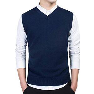 Spinningt Sweaters Sleeveless Men's Warm Sweater Cotton Casual M-3xl