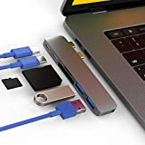 CharJenPro MacStick USB C Hub for MacBook Pro 2016-2019, MacBook Air 2018-2019, 100W Power Delivery, Thunderbolt 3 5K@60Hz, 2 USB 3.0, Micro SD and SD Card Reader, USB C Port, USB-C Hub