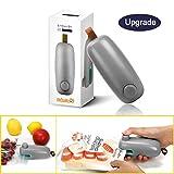 ColorGo Potato Chip Bag Sealer, Handheld Mini Heat Resealer Machine For Plastic Food Storage Gray [Upgrade Version & Patent Protect]