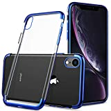 for iPhone xr case, KuGi iPhone xr case, [Shock/Scratch Absorption Protection] Ultra-Thin Flexible Rubber Soft TPU Bumper Case for iPhone xr 6.1 inch Smartphone(Blue)