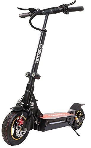 QIEWA Q1Hummer 800Watts Electric Scooter 26Ah 48V Lithium Battery with Dual Disk Brakes Max Driving Range Up to 100 Kilometer