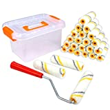 Super Value 26 Piece Multi-Use 4 inch High Density Premium,Mohair Mini Paint Roller,Paint Roller,Home Tool kit,Paint Roller frme,Paint Roller Refill,Paint Roller Edger,Paint Roller for Ceiling,