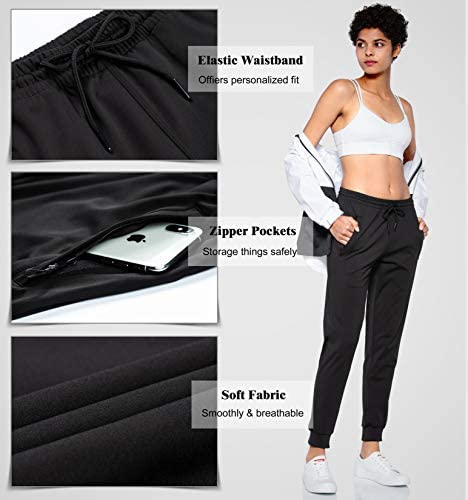 G Gradual Women's Joggers Pants with Zipper Pockets Tapered Running Sweatpants for Women Lounge, Jogging 4