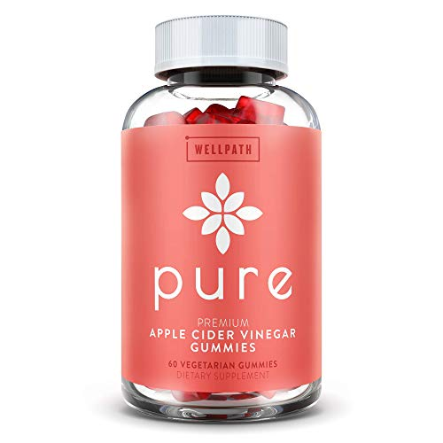 Pure Apple Cider Vinegar Gummies - with Raw, Organic, Unfiltered ACV from The Mother | Easier Than Apple Cider Vinegar Capsules, Pills, Tablets | Supports Weight Loss, Detox, Cleanse | 500mg | 60 ct.