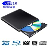 External Blu Ray Drive 3D 4K USB 3.0 Blu Ray Drive Player CD DVD Drive Compatible with Windows 7/8/10 Linux for Laptop PC iMac MacBook OS