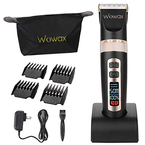 Wowax Hair Clippers for Men Professional Cordless Hair Trimmers Edgers Kit, Rechargeable Home Hair Cutting Machine for Kids Boys Babies, Titanium Ceramic Blade LCD Display