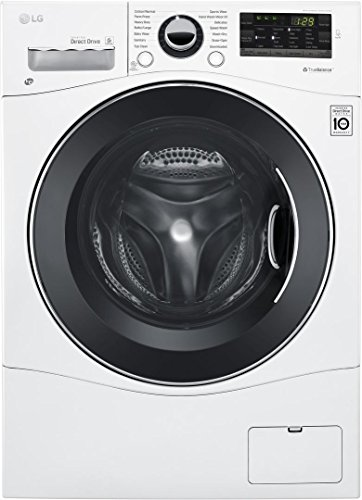 LG WM3488HW 24″ Washer/Dryer Combo with 2.3 cu. ft. Capacity, Stainless Steel Drum in White